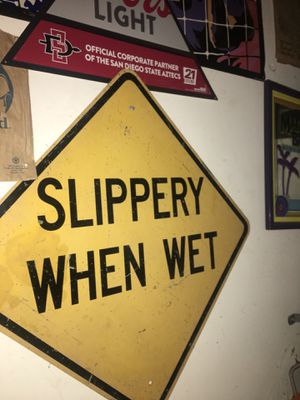 The original authentic slippery when wet. Took me years to find willing to part with it now. Any reasonable offer will be appreciated and considered. for Sale in Encinitas, CA