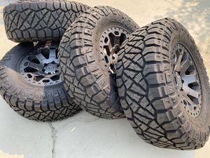 Black Rhino Offroad Wheels Nitto Ridge Grappler 35x12.50x18LT 12 PLY Ford F150 Wheels Expedition rim for Sale in Rancho Cordova, CA
