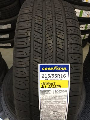 215/55/16 New set of Goodyear tires installed for Sale in Rancho Cucamonga, CA