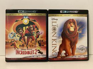 Disney/Pixar 4K ULTRA HD Bundle for Sale in Glendora, CA