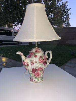 Antique Floral Rose Teapot Lamp for Sale in Lancaster, CA