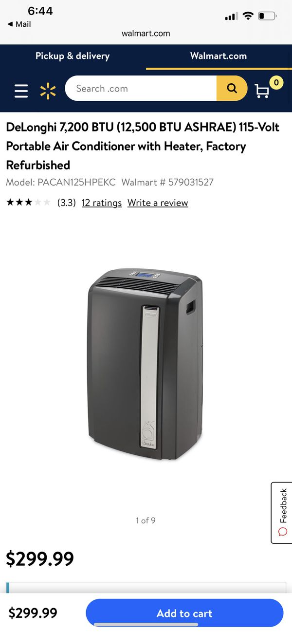Portable ac unit AND heater - brand new