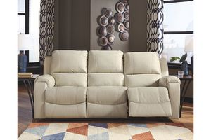 Brand new Ashley furniture leather rackingburg set cream $6000 value for Sale in El Dorado Hills, CA