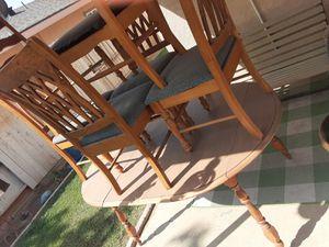 Oak table 4 chair's for Sale in Bakersfield, CA