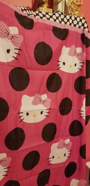 Hello kitty curtains with tie backs (4 panels) for Sale in Lithonia, GA