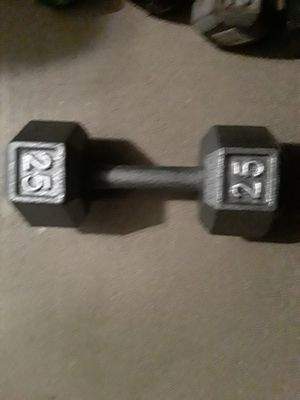 ONE 25 POUND DUMBBELL for Sale in Tamarac, FL