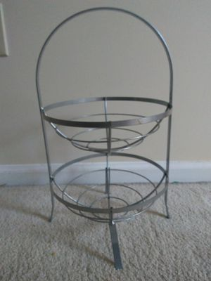 Chrome 2 tier basket for Sale in Oakton, VA