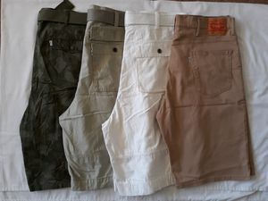 New never worn 4 pairs Levi's shorts...3 more pairs camo cargo shorts...see pic 9 for details for Sale in Hayward, CA