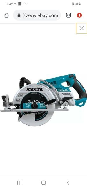 "Makita lxt brushless 7-1/4"" circular saw ( tool only for Sale in San Jose, CA"