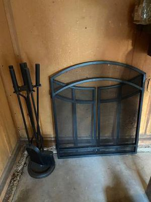 Fire place screen and tools for Sale in Denver, CO