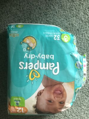 Pampers baby dry size 3 for Sale in Clarkston, MI