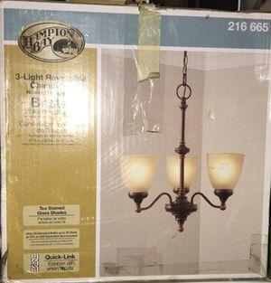 Hampton 3 light reversible Chandelier for Sale in Bakersfield, CA