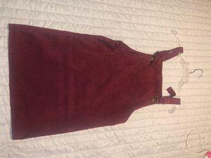 Burgundy Overall Dress for Sale in Hemet, CA
