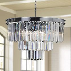 Brand new crystal chandelier/luxury chandelier/home decor/Light fixtures /home goods for Sale in Sunrise,  FL