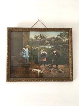 Antique Victorian Framed Chromo lithograph print Original for Sale in Bainbridge Island, WA