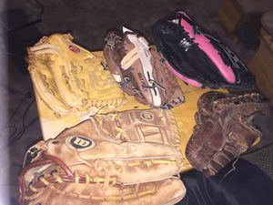 Baseball and softball gloves for Sale in Kernersville, NC