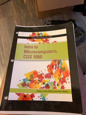Intro to microcomputers cgs 1060 for Sale in Miami, FL