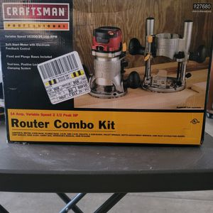 Craftsman Professional Router Combo Kit for Sale in Elk Grove, CA