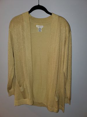Woman's sweater gold for Sale in Pompano Beach, FL