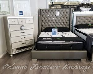 $50 down financing! BRAND NEW QUEEN BLING BED FRAME for Sale in Oviedo, FL