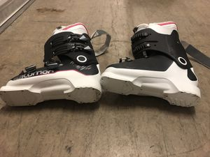 Worn once Salomon Women's Ski boots size 25.5 for Sale in Dallas, TX