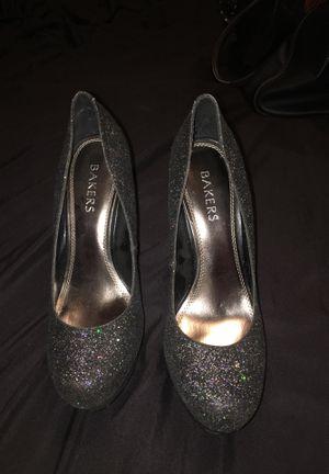 black glitter heels for Sale in Sanger, CA