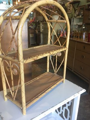 Small rattan shelf plant stand for Sale in San Diego, CA