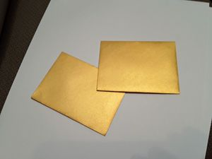 Mini Envelopes Gold Metallic A17 - 100 for Sale in Hialeah, FL