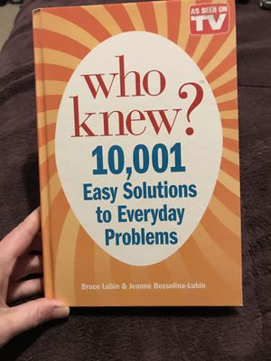 Who Knew? 10,001 Easy Solutions to Everyday Problems Book for Sale in Harrisonburg, VA
