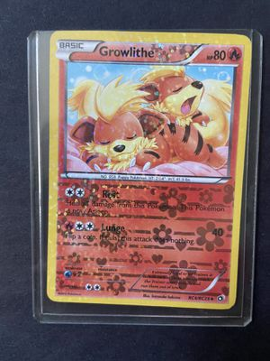 Growlithe Pokémon card great condition rc4/rc25 Holo for Sale in Bellingham, MA