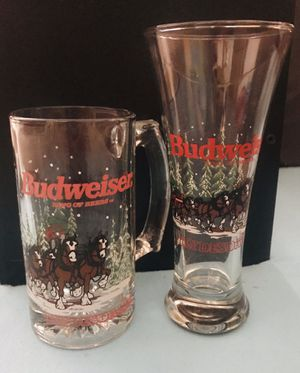 Anheuser Busch Set Of Two vintage collectible glasses for Sale in Manchester, NH