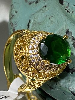 18k Gold Filled Emerald CZ Ring Size 9,10 for Sale in Nashville,  TN