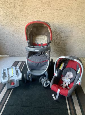 Graco Baby Car Seat with Base and Stroller - Finley for Sale in Phoenix, AZ
