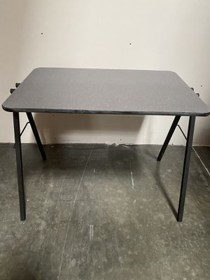 "24"" x 39.5""x 30""high Grey speckled laminate table / puzzle and games table / gamer table / great for home schooling / desk / home office / table for for Sale in Ontario, CA"