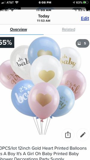 BABY SHOWER BALLOONS for Sale in Saint Charles, MO
