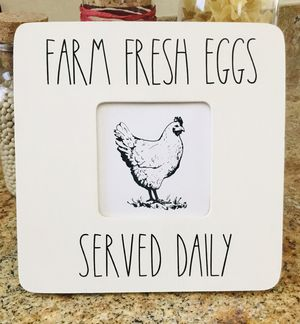 """Farm Fresh Eggs, 8"""" by 8"""", wooden sign for Sale in Surprise, AZ"""