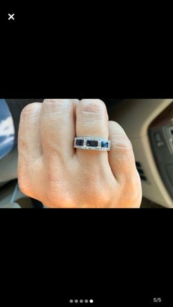 Genuine Sapphire (NOT lab created) and diamond band for Sale in Murfreesboro,  TN