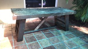 Large farmhouse wooden table indoor/outdoor for Sale in Fort Lauderdale, FL