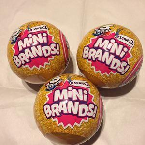 Mini Brands!! Series 2 (Set Of 3) Unopened for Sale in San Antonio, TX