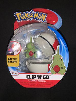 Pokemon Clip 'N' Go - Larvitar + Timer Ball for Sale in Berwyn, IL