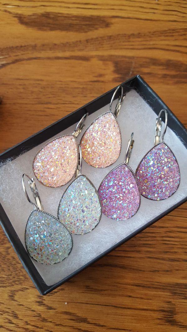 Druzy Earrings Bundle
