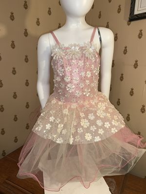 Beautiful Pink Ivory flower girl wedding princess fairy tea party birthday Easter dress , West York, Child Medium, message for PayPal shipping. for Sale in Thomasville, PA