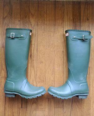 Women's original tall green hunter rain boots for Sale in Garland, TX