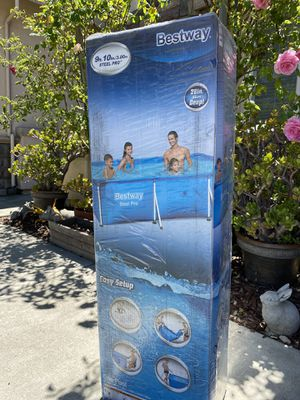 Bestway 9 ft x 6 ft x 2 ft Steel Pro Rectangular Above Ground Swimming Pool for Sale in Fremont, CA
