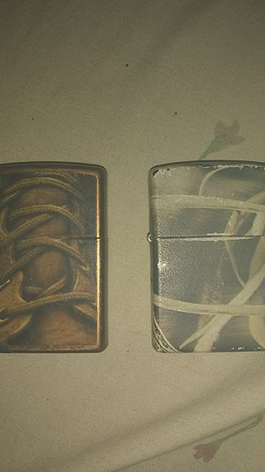 Toffee boot lace & realtree Zippo lighters for Sale in Keyes, CA