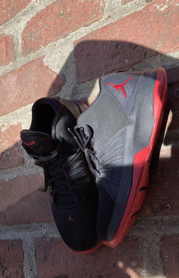 Black and red Jordan's
