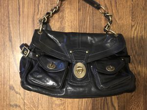 Black coach leather purse for Sale in San Diego, CA