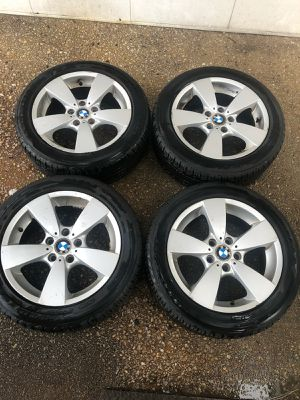 4 17 in 5x120 bmw wheels rims and tires for Sale in Germantown, MD
