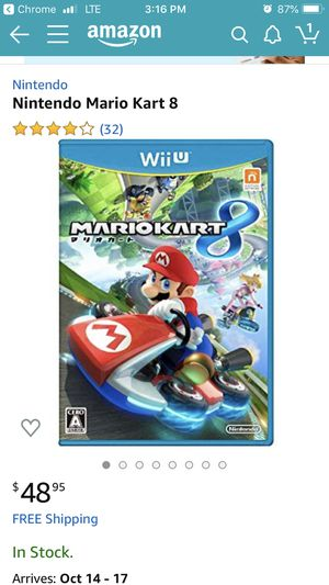 Mario Kart 8 & Captain Toad Treasure Tracker Wii U for Sale in Corona, CA