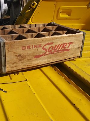Antique squirt soda wooden crate , bottle holder for Sale in Whittier, CA